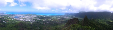 These two images say it all. Taken from peak 1 of the Olomana trail.