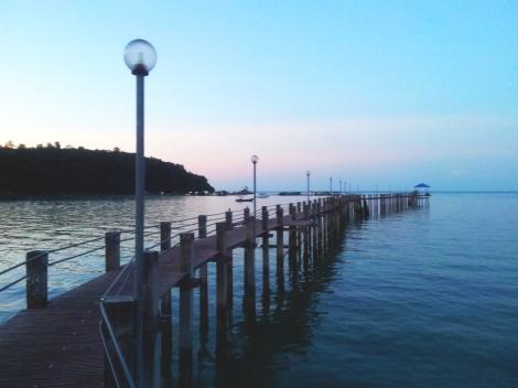 Pier at sundown