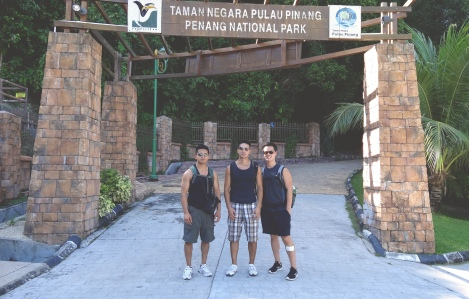 The boys and I at the entrance to Penang National Park