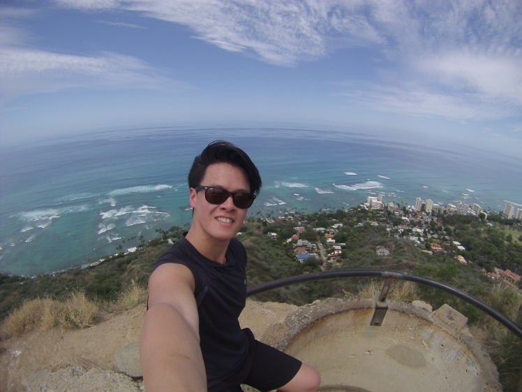 Top of Diamondhead. the family friendly hike