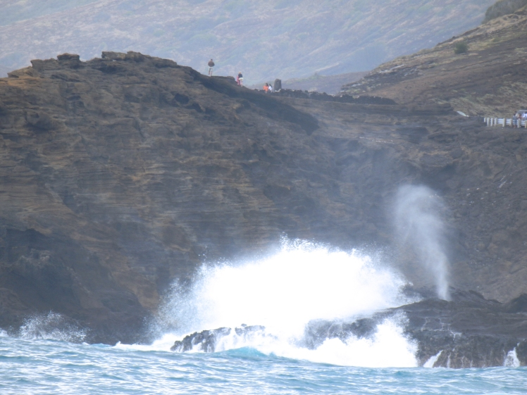 The famous blowhole, close to Sandy beach. (I think)