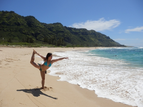 Cristina doing her yoga thing