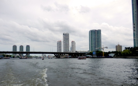 Riding the ferry up the Chao Praya river