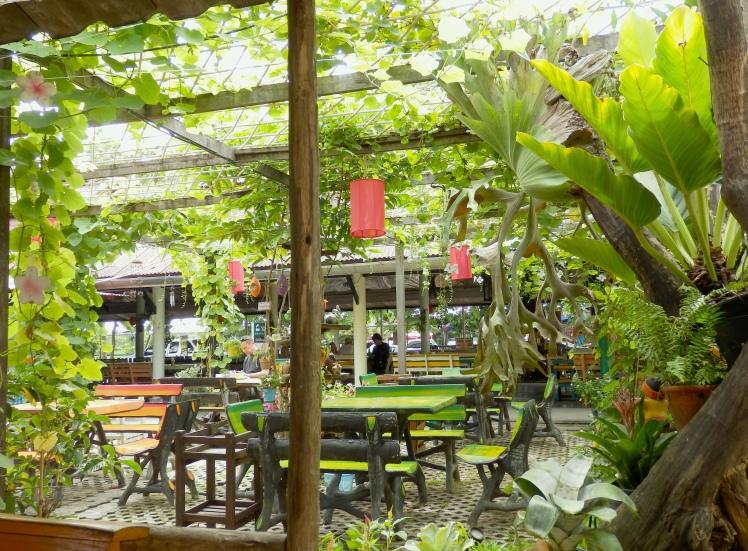 Cool little garden restaurant by the train station