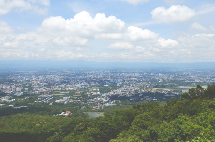 View of Chiang Mai on the ride up to Doi Suthep.