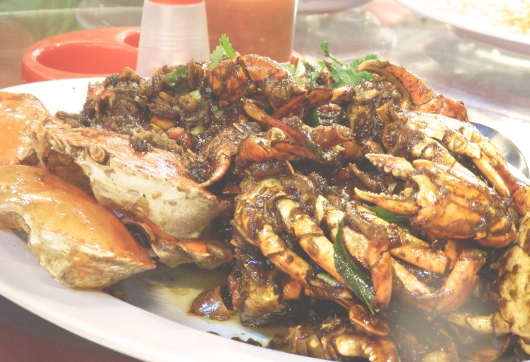 Sambal crab. A spicy, fragrant spice paste fried with fresh crab