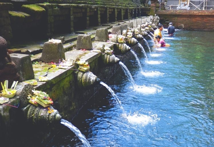 The bathing pools at Tirta Empul
