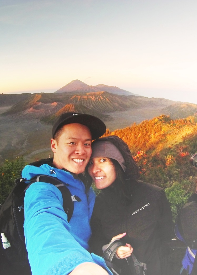 Sun rises at the Bromo lookout