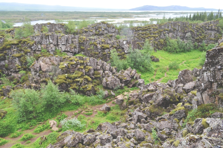 Walking around Thingvellir National Park