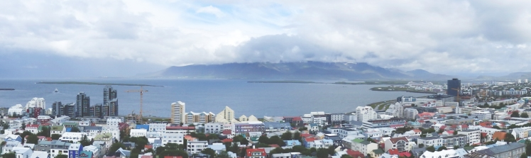 Pano of Reykjavik from the top of Hallgrimskirkja