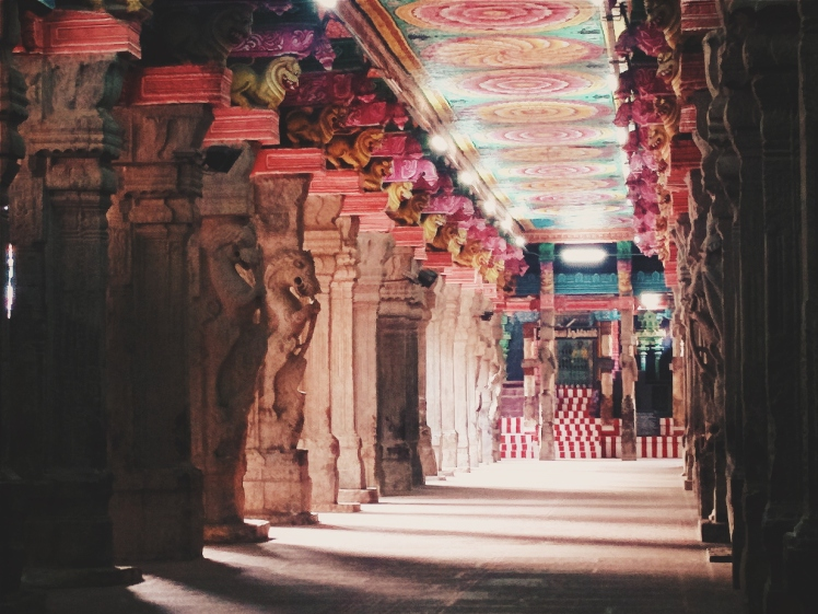 A quiet hall of the temple