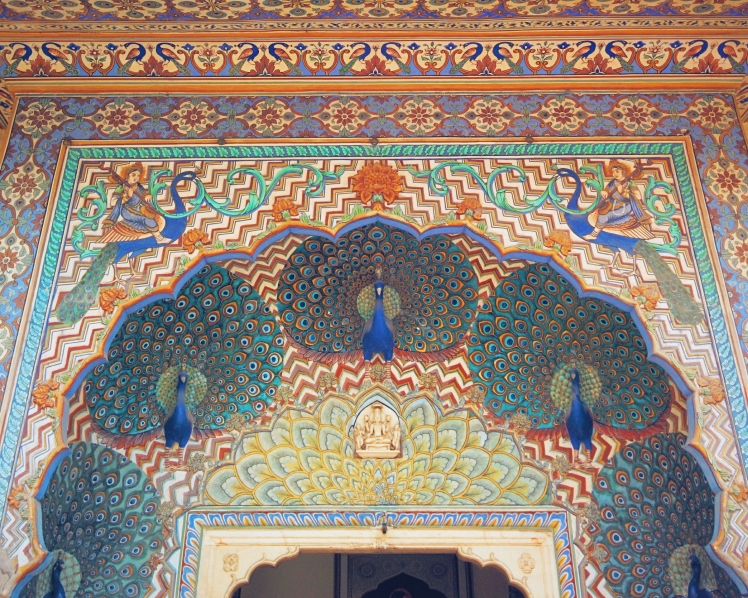 The Peacock gate at Amber Fort, representing fall. There are 4 gates to this one particular courtyard, each representing a season