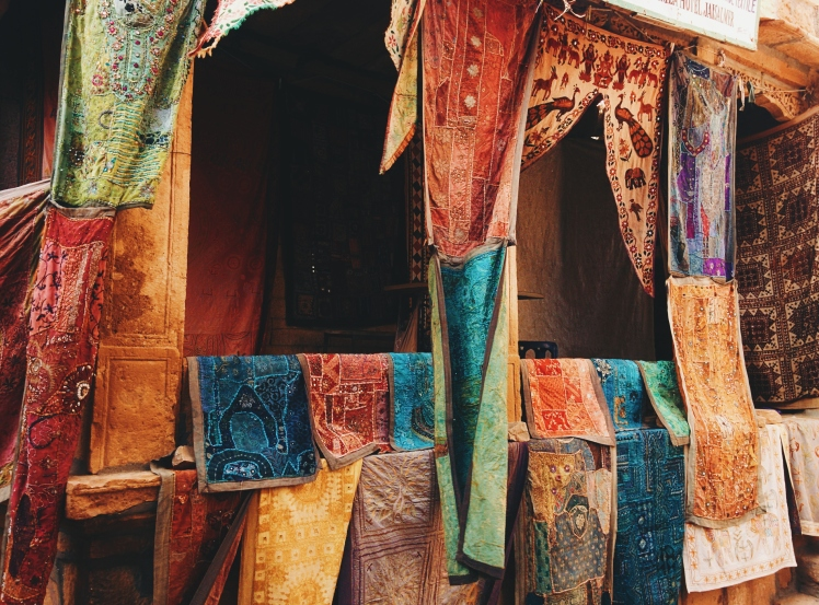 One of the textile shops in the fort. Jaisalmer (and I guess Rajasthan in general) has hands down the best handicrafts that I've seen in India. If you're here, be sure to do your shopping.