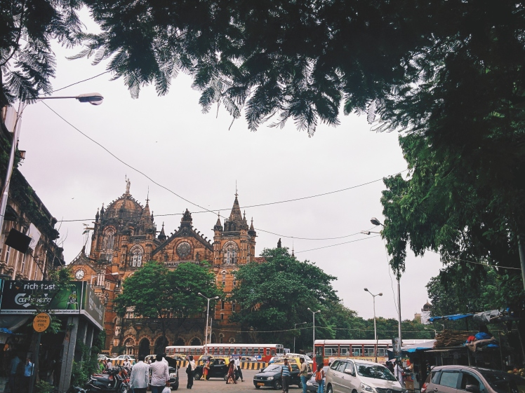 The famed Chhatrapati Shivaji train station in Mumbai.