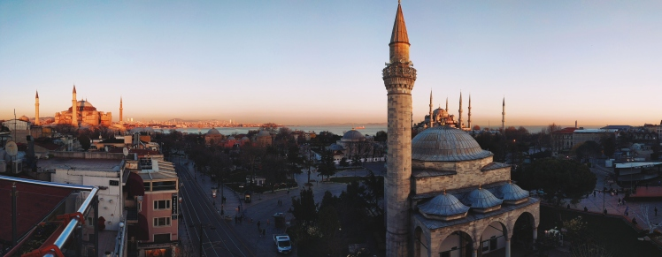 Sultanahment at sunset.
